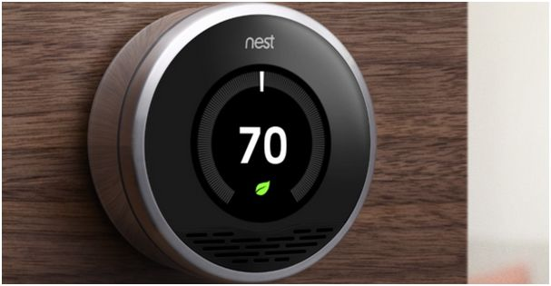 Smart thermostats like this one from Nest Labs have the potential to cut energy bills